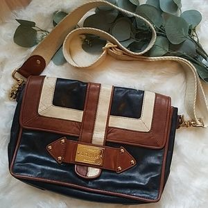L.A.M.B Authentic Genuine Leather Crossbody Bag